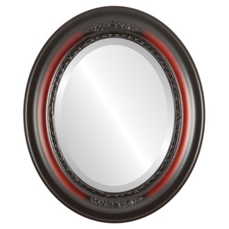Beveled Mirror - Boston Oval Frame - Rosewood