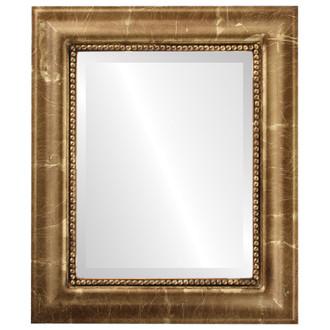 Beveled Mirror - Heritage Rectangle Frame - Champagne Gold