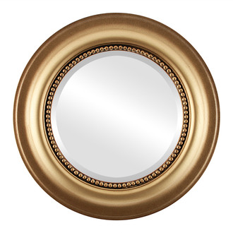 Beveled Mirror - Heritage Round Frame - Desert Gold