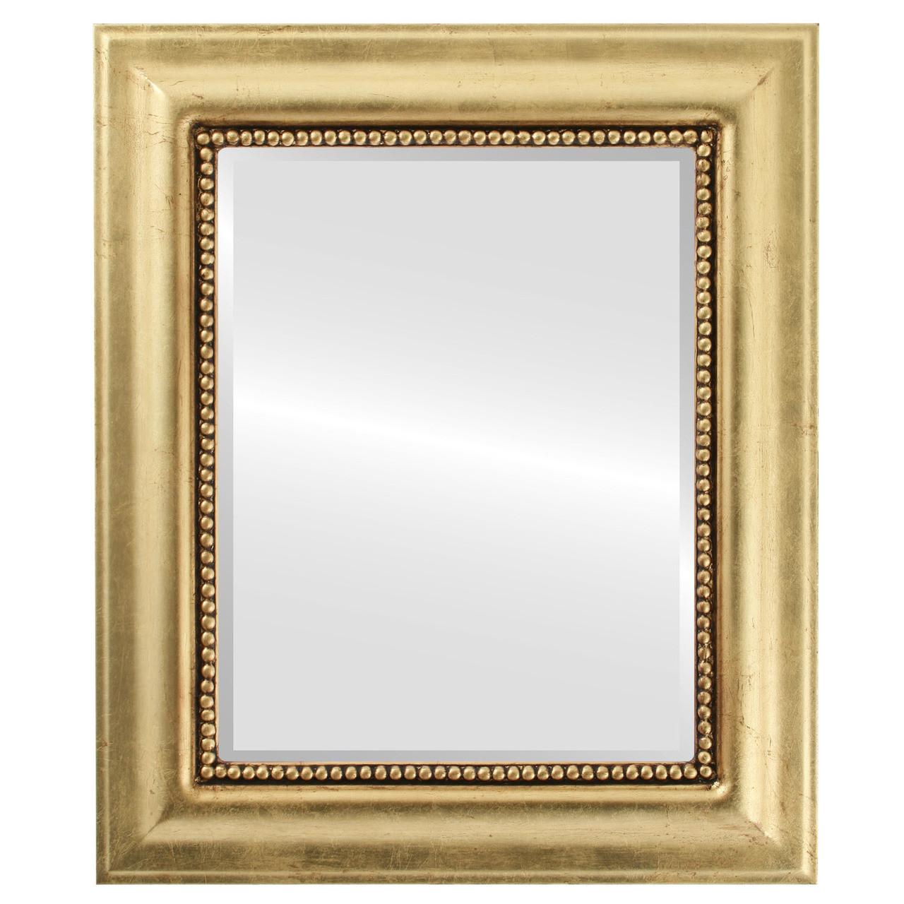 6795f7e8bee7 Beveled Mirror - Heritage Rectangle Frame - Gold Leaf