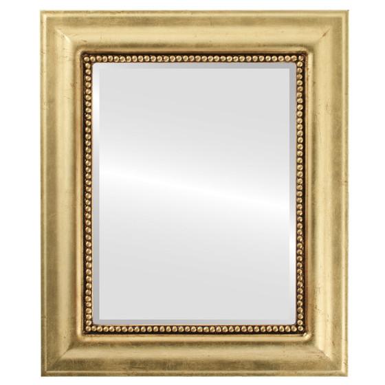 Beveled Mirror - Heritage Rectangle Frame - Gold Leaf
