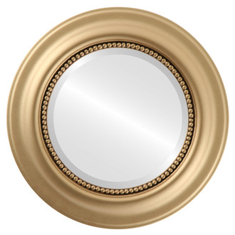 Beveled Mirror - Heritage Round Frame - Gold Spray