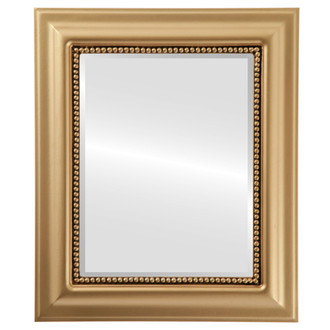 Beveled Mirror - Heritage Rectangle Frame - Gold Spray