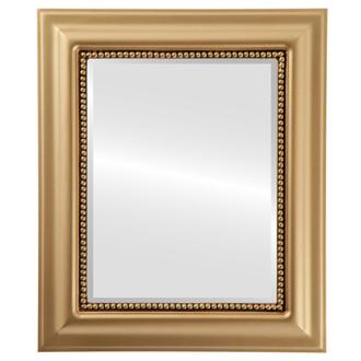 Beveled Mirror - Heritage Rectangle Frame - Gold Spray