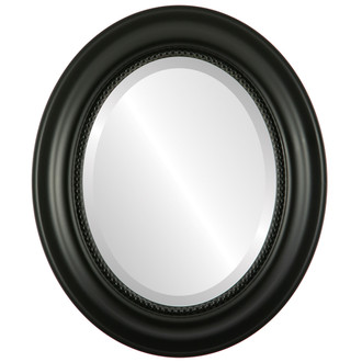 Beveled Mirror - Heritage Oval Frame - Matte Black