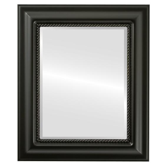 Beveled Mirror - Heritage Rectangle Frame - Matte Black