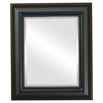 Beveled Mirror - Heritage Rectangle Frame - Royal Blue