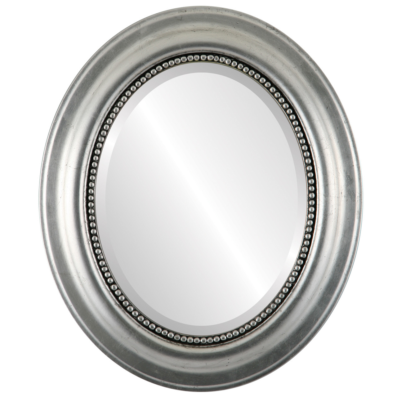 Decorative Silver Oval Mirrors from $177 | Free Shipping