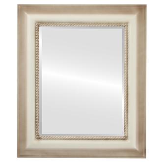 Beveled Mirror - Heritage Rectangle Frame - Taupe