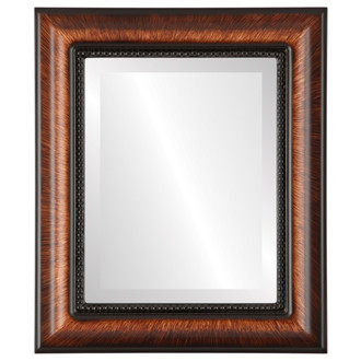 Beveled Mirror - Heritage Rectangle Frame - Vintage Walnut