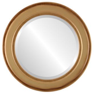 Beveled Mirror - Wright Round Frame - Desert Gold