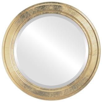 Beveled Mirror - Wright Round Frame - Gold Leaf