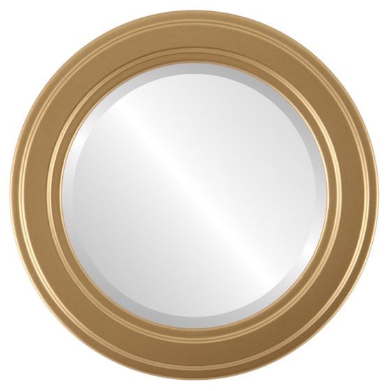 Beveled Mirror - Wright Round Frame - Gold Spray