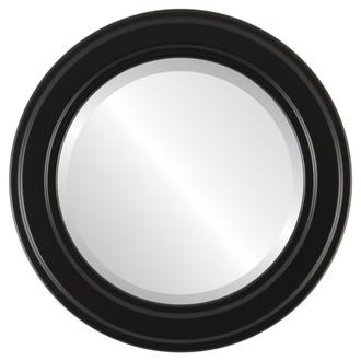 Beveled Mirror - Wright Round Frame - Matte Black