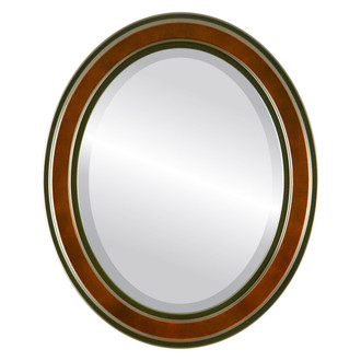 Beveled Mirror - Wright Oval Frame - Rosewood