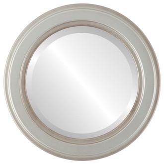 Beveled Mirror - Wright Round Frame - Silver Shade