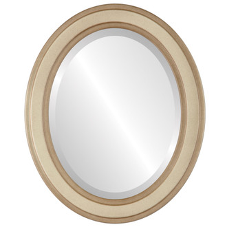 Beveled Mirror - Wright Oval Frame - Taupe