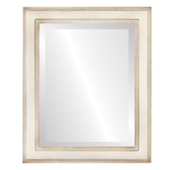 Beveled Mirror - Wright Rectangle Frame - Taupe
