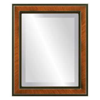 Beveled Mirror - Wright Rectangle Frame - Vintage Walnut