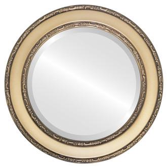 Beveled Mirror - Monticello Round Frame - Desert Gold