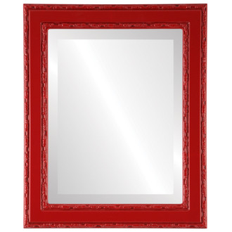 Beveled Mirror - Monticello Rectangle Frame - Holiday Red