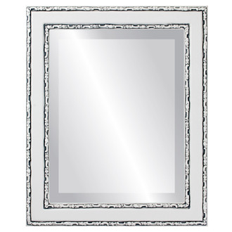 Beveled Mirror - Monticello Rectangle Frame - Linen White