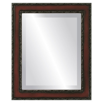 Beveled Mirror - Monticello Rectangle Frame - Rosewood