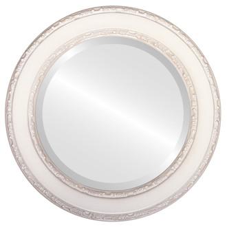 Beveled Mirror - Monticello Round Frame - Taupe