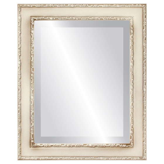 Beveled Mirror - Monticello Rectangle Frame - Taupe