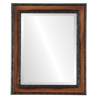 Beveled Mirror - Monticello Rectangle Frame - Walnut
