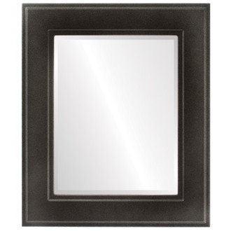 Beveled Mirror - Montreal Rectangle Frame - Black Silver