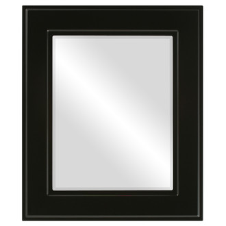 Beveled Mirror - Montreal Rectangle Frame - Gloss Black