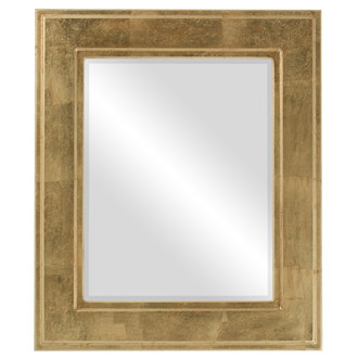 Beveled Mirror - Montreal Rectangle Frame - Gold Leaf
