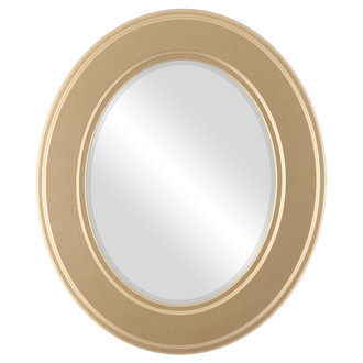 Beveled Mirror - Montreal Oval Frame - Gold Spray