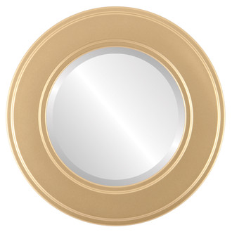 Beveled Mirror - Montreal Round Frame - Gold Spray