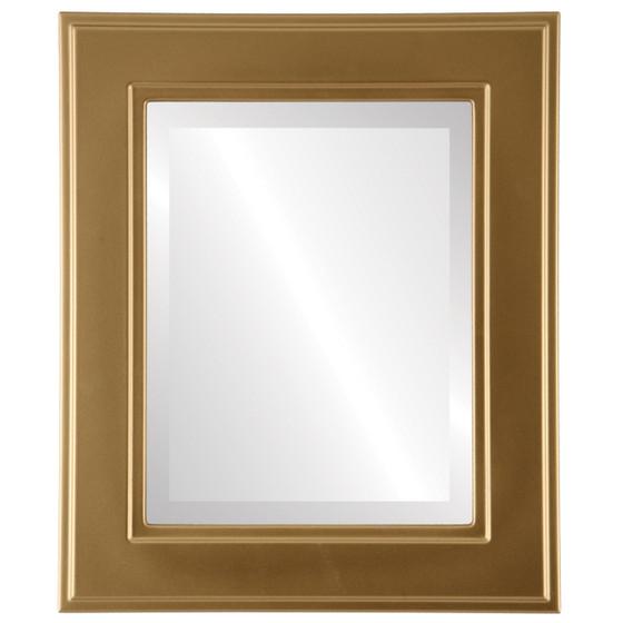 Beveled Mirror - Montreal Rectangle Frame - Gold Spray