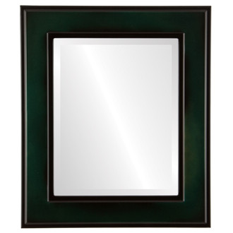Beveled Mirror - Montreal Rectangle Frame - Hunter Green