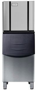 ICB110SC Storage Bin with CIM0325 Modular Cube Ice Maker