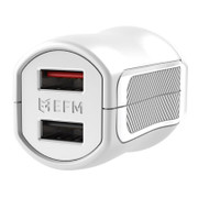 EFM Wall Charger 3.4A Dual USB With MFi Lightning Cable - White