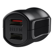 EFM Wall Charger 3.4A Dual USB With MFi Lightning Cable - Black