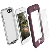 LifeProof NUUD Case with Alpha Glass iPhone 7 - Purple/Clear