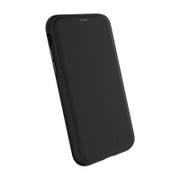 EFM Monaco D3O Leather Wallet Case iPhone Xs Max - Black/Space Grey