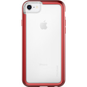 Pelican ADVENTURER Case iPhone 8/7/6/6S - Clear/Metallic Red