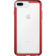 Pelican ADVENTURER Case iPhone 8+/7+/6+/6S+ Plus - Clear/Metallic Red