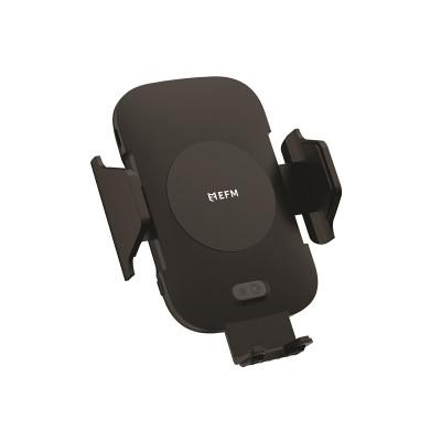 EFM 10W Wireless Auto-Sensor Car Mount (Type C to C Cable) & 39W Car Charger - Black