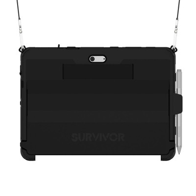 Griffin Survivor Slim Case Microsoft Surface Go w/ Shoulder Strap - Black