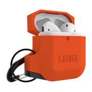 UAG Silicone Case Apple Airpods - Orange/Grey