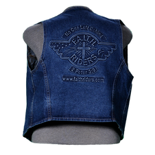 Embossed Denim Vests