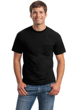 Black Pocketed Tee With Embroidered Logo Above Pocket (logo not pictured)