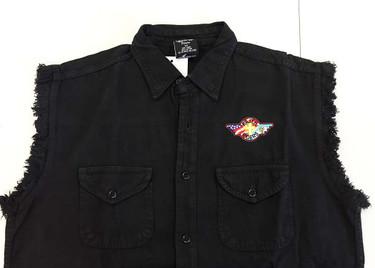 Sleeveless Denim Shirt